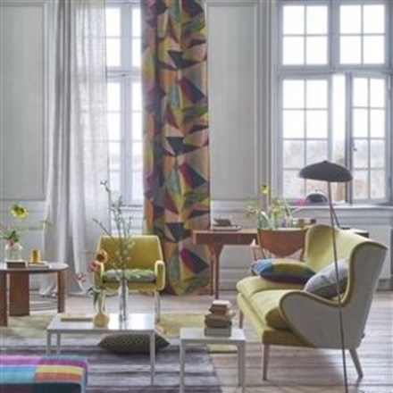 Længdegardin Shikhara berry by Designers Guild